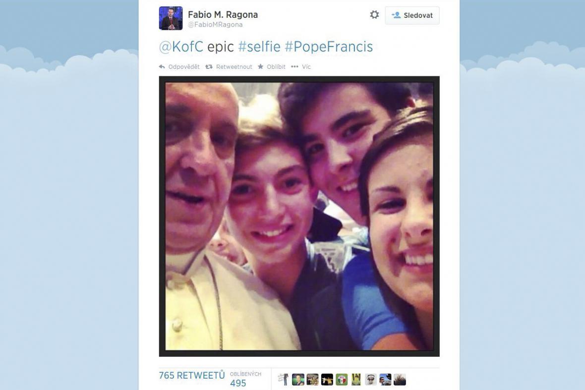 Selfie s papežem Františkem