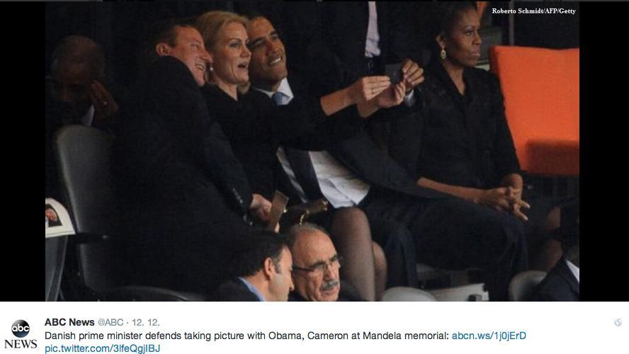 Selfie Baracka Obamy
