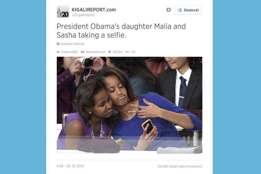 Selfie dcer Baracka Obamy