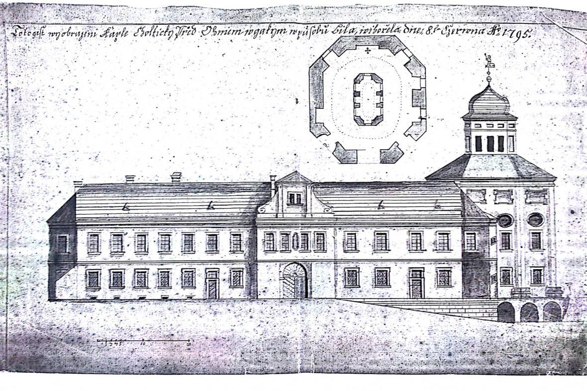 Územní plánek zámku Choltice