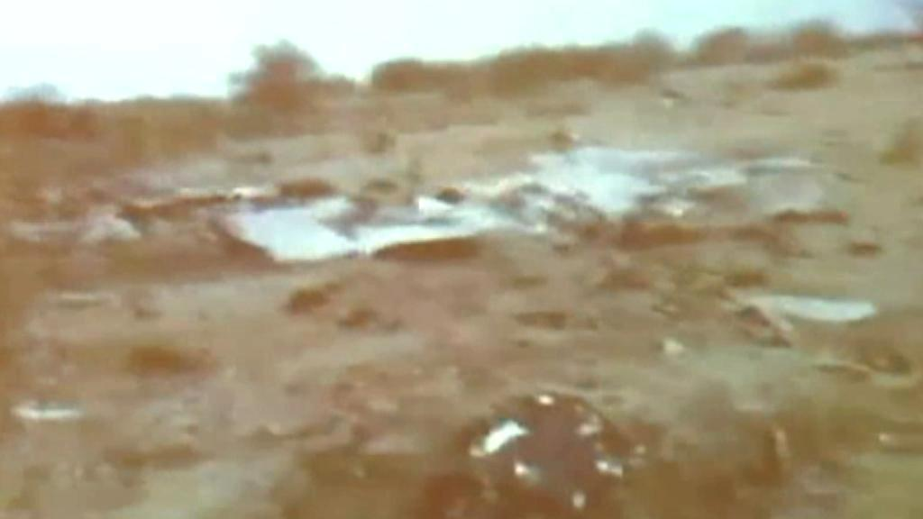 První snímky trosek letadla zříceného v Mali