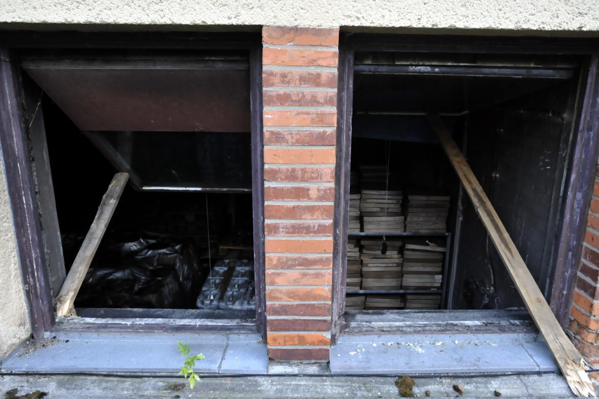Požár ve skladu filmového materiálu ve Zlíně