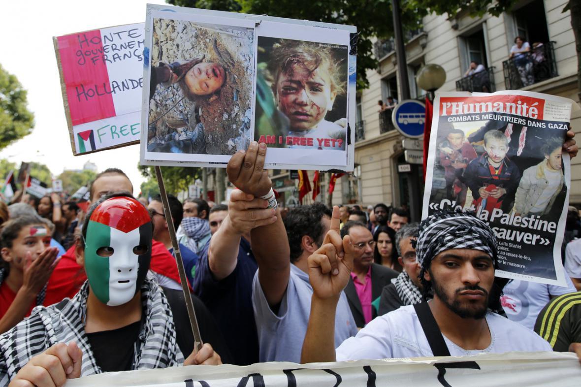 Protiizraelská demonstrace v Paříži