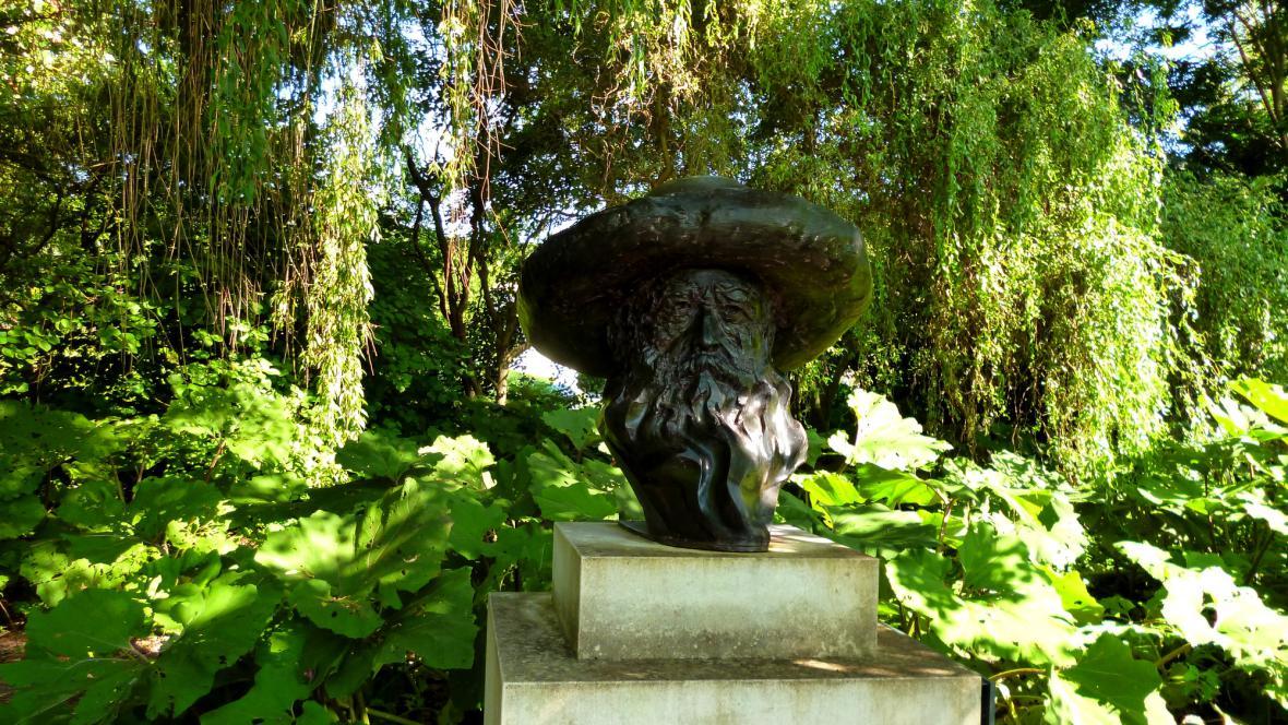 V Giverny vítá návštěvníky Monet osobně