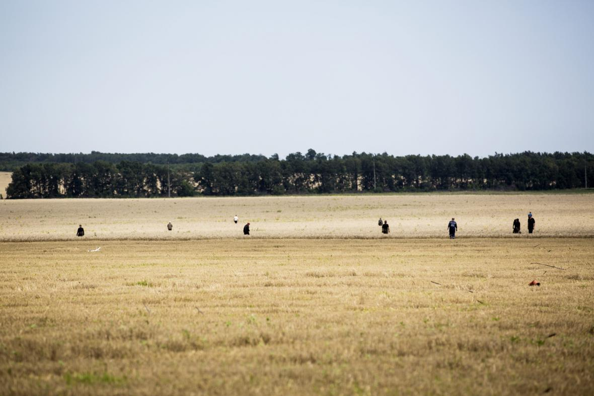 Místo katastrofy letu MH17