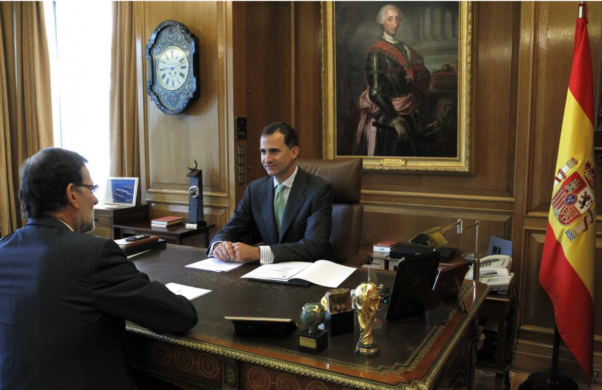 Filip VI. a Mariano Rajoy