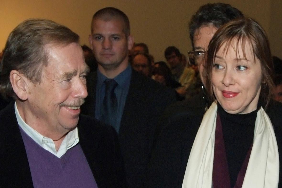 Václav Havel a Suzanne Vega