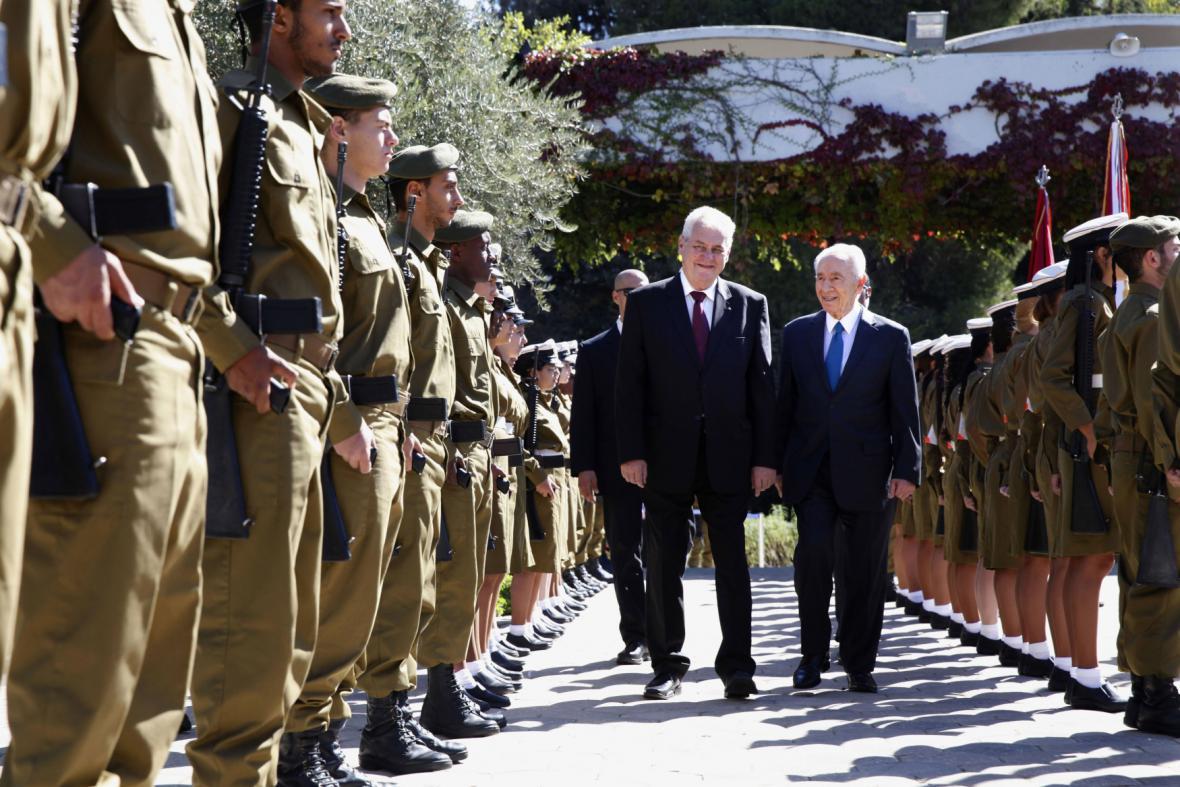 Prezident Zeman v Izraeli