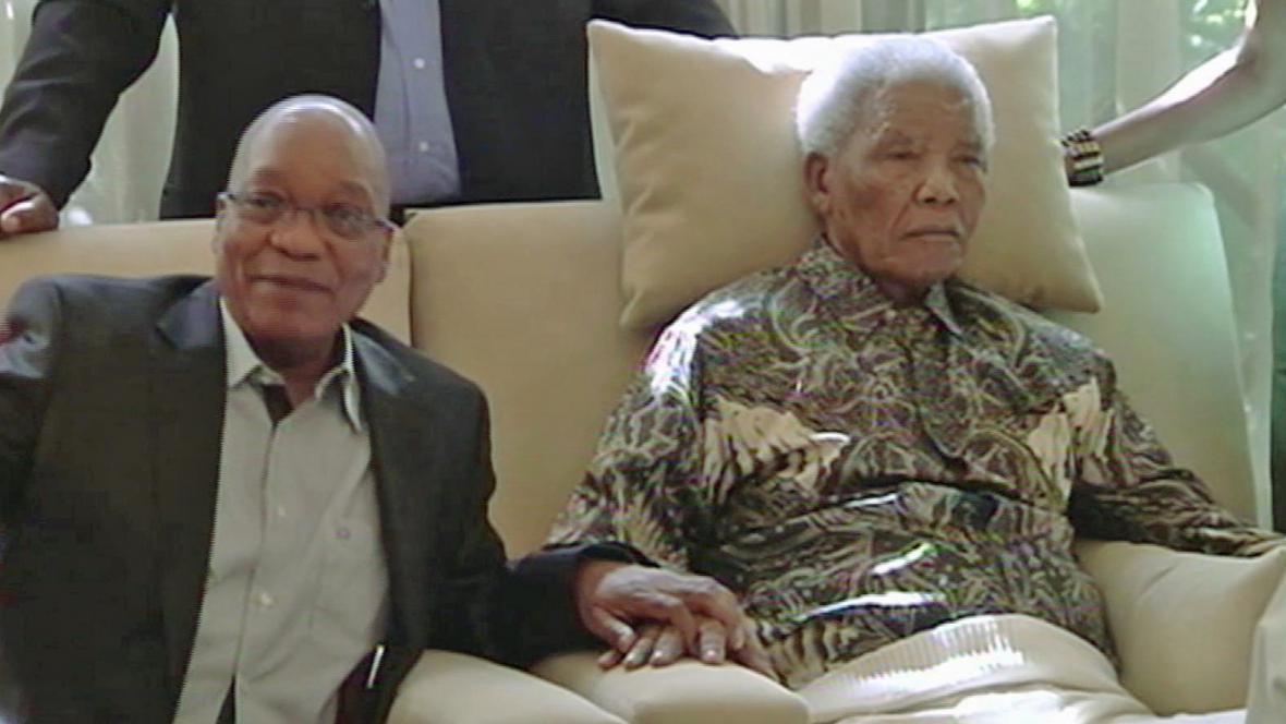 Jacob Zuma a Nelson Mandela