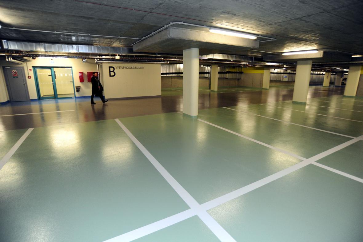 Podzemní parkoviště v centru Brna