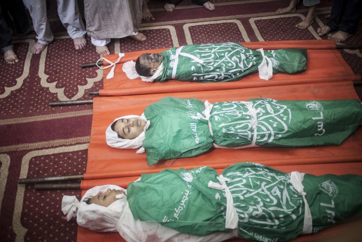 Oběti izraelské ofenzívy v Pásmu Gazy