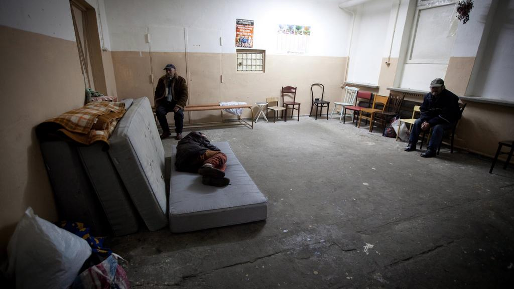 Polští bezdomovci se uchylují do ubytoven