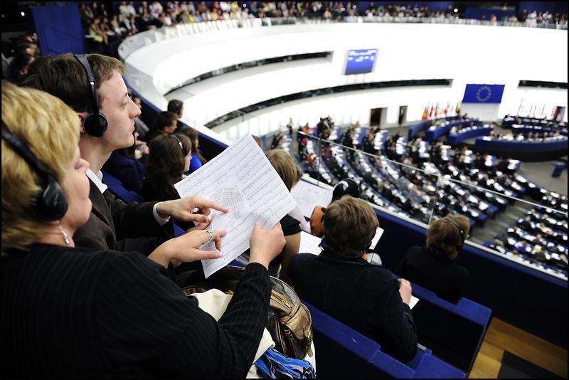Návštěvníci v Evropském parlamentu