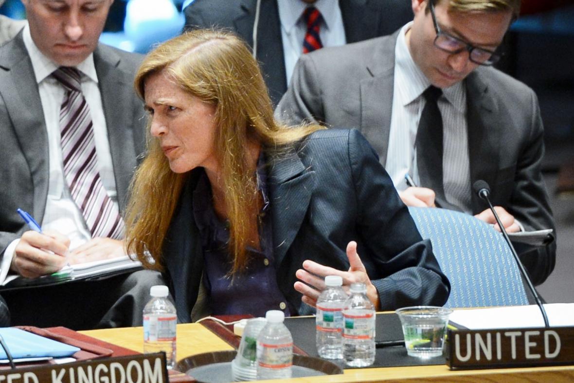 Americká velvyslankyně při OSN Samantha Powerová