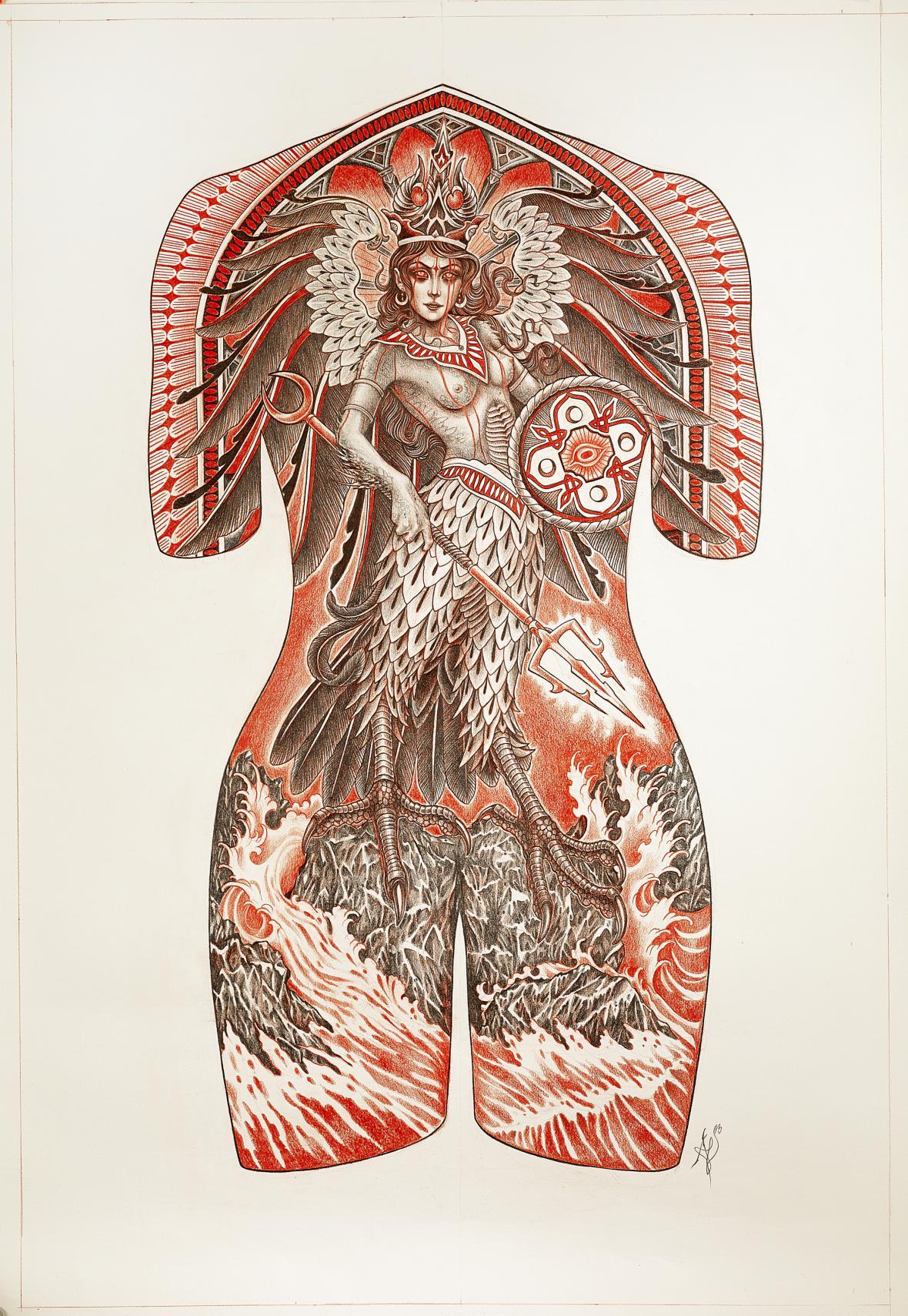 Z výstavy Tatéři a tetovaní v Muzeu Quai Branly v Paříži