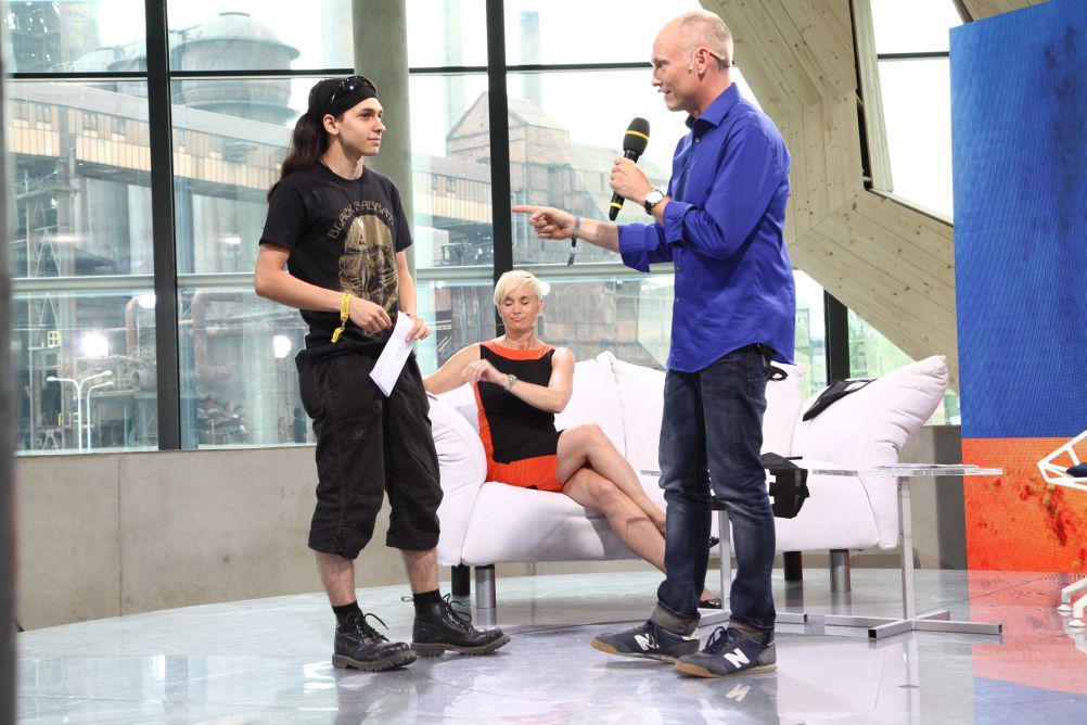 Petr Vizina v rozhovoru s dalším zájemcem...