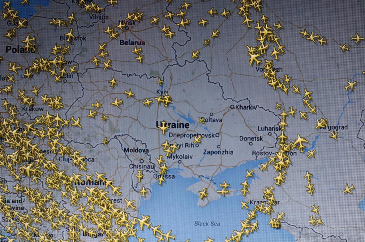 Vzdušný prostor nad Ukrajinou