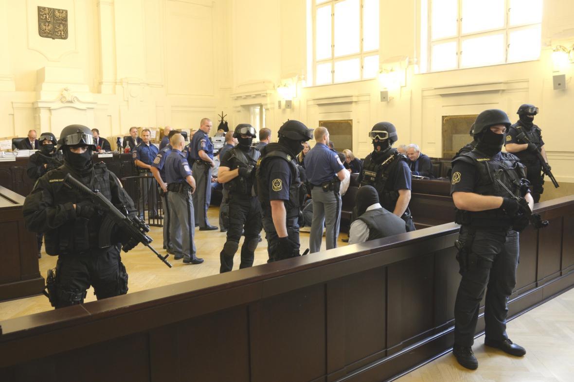Rozsudek nad Švábovým gangem probíhal za přísných opatření