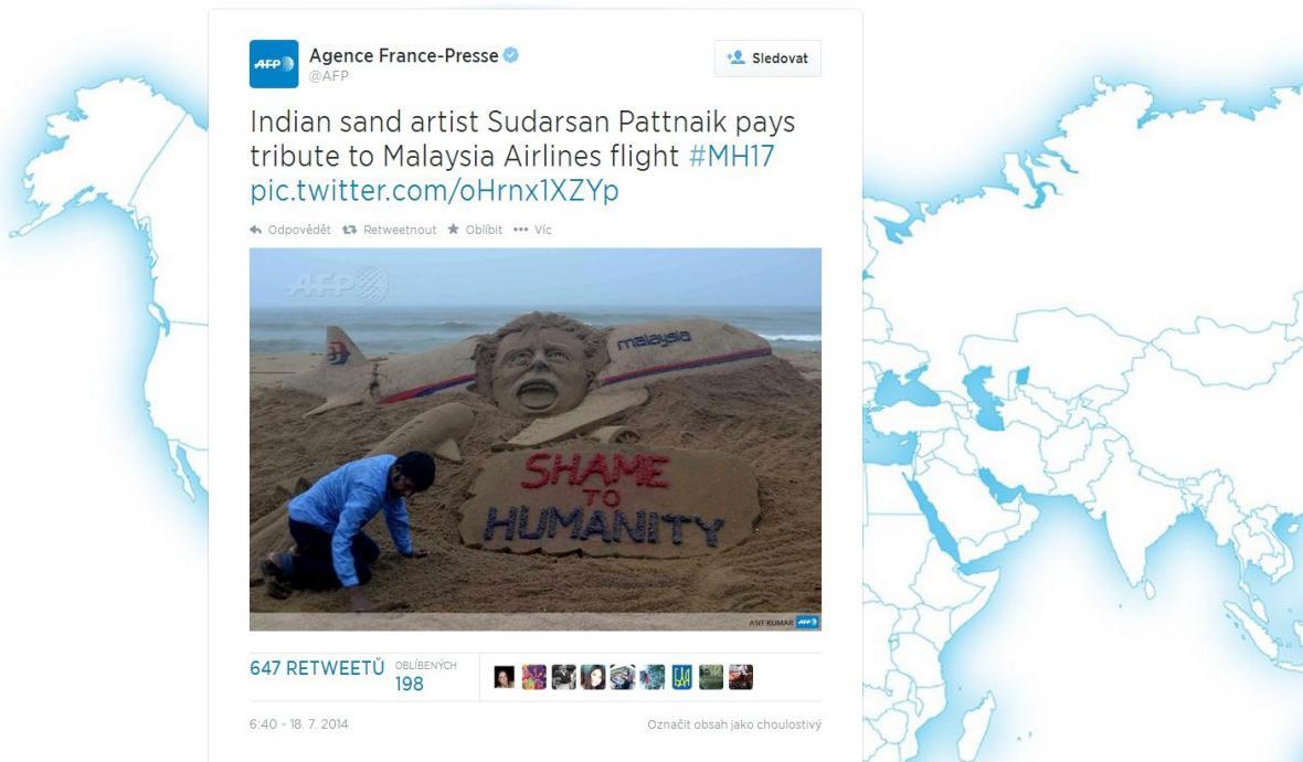 MH17 na Twitteru