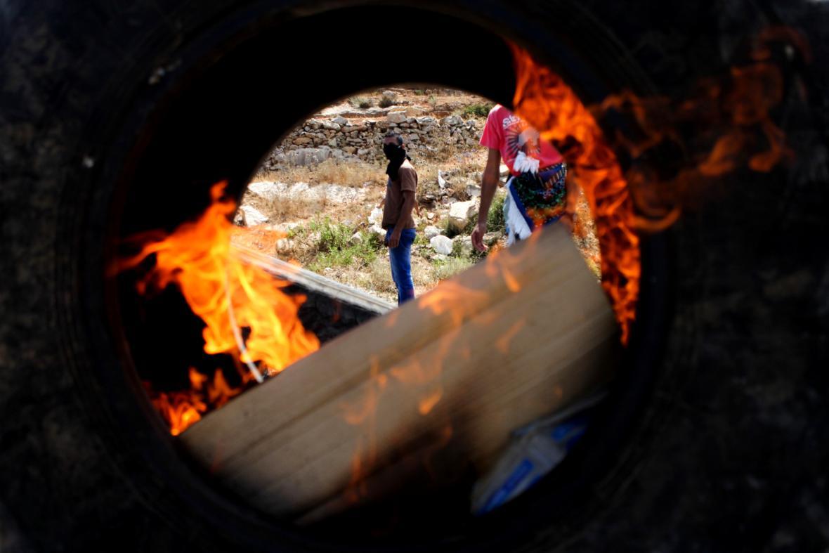 Západní břeh Jordánu - protest proti izraelské operaci