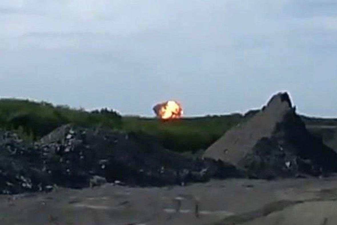 Místo výbuchu malajsijského letadla