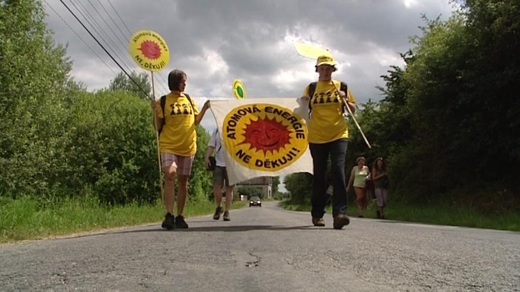 Protest proti jadernému odpadu