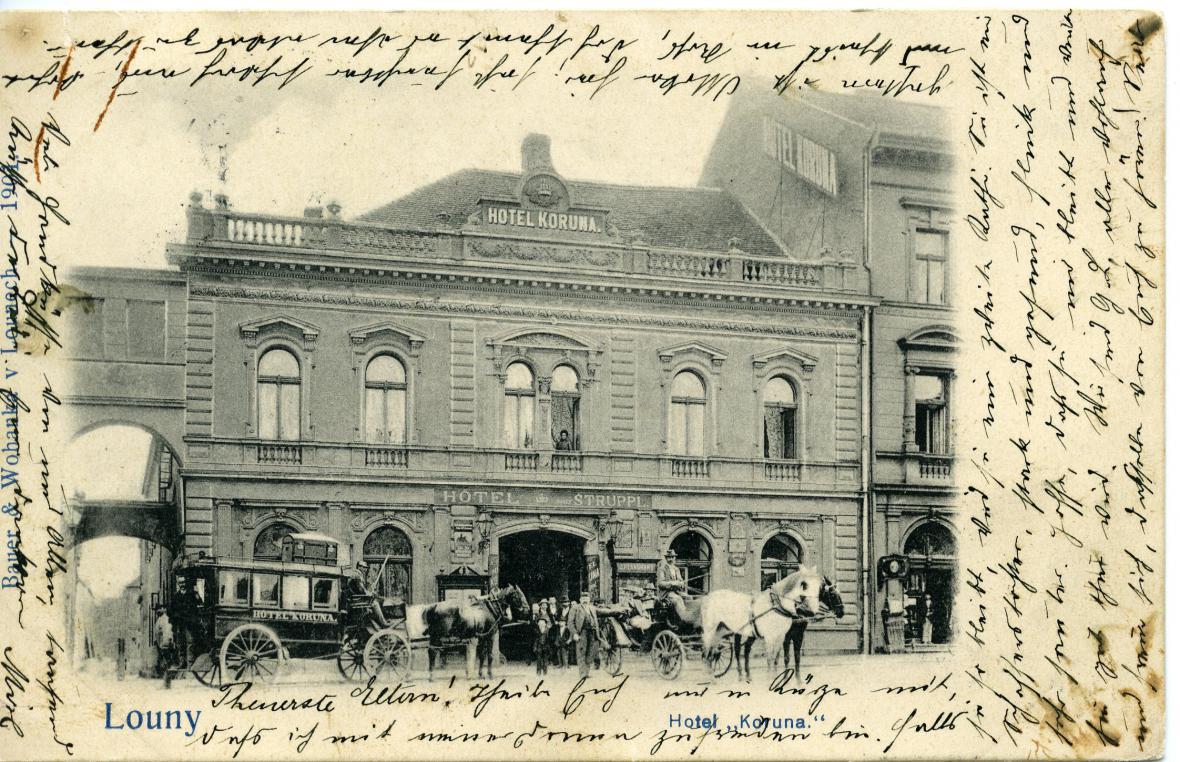 Hotel Koruna krátce po roce 1900