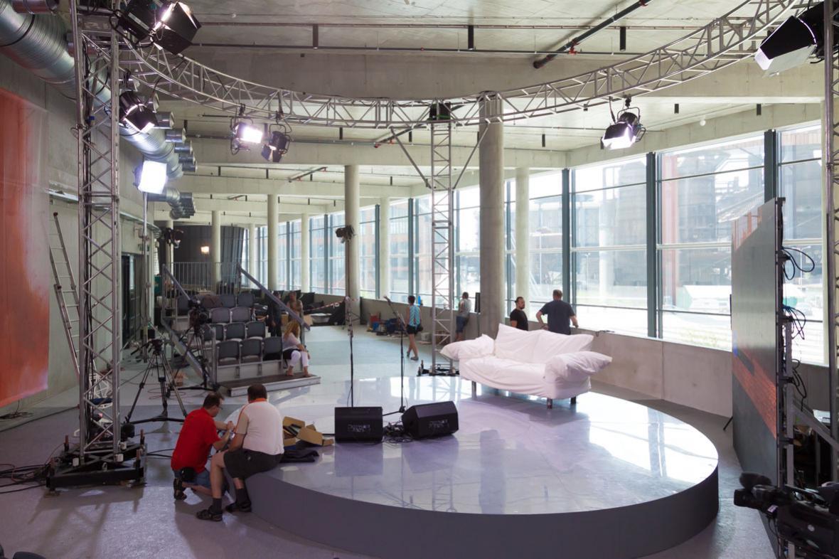 Příprava na vysílání z Colours of Ostrava je v plném proudu