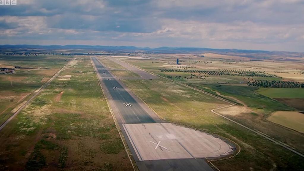 Opuštěné letiště u Ciudad Real