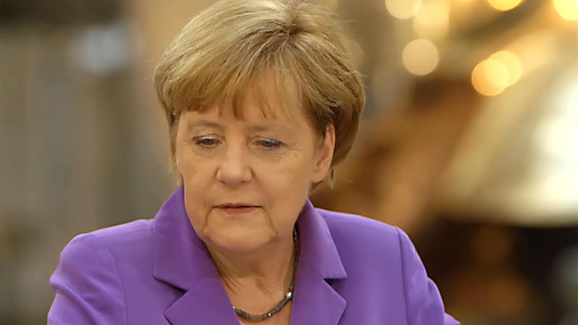 Angela Merkelová při rozhovoru pro ZDF