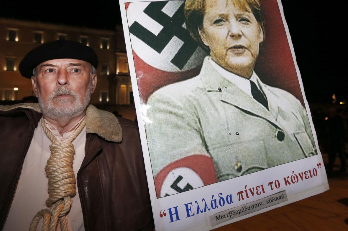 Řekové Angelu Merkelovou příliš v lásce nemají