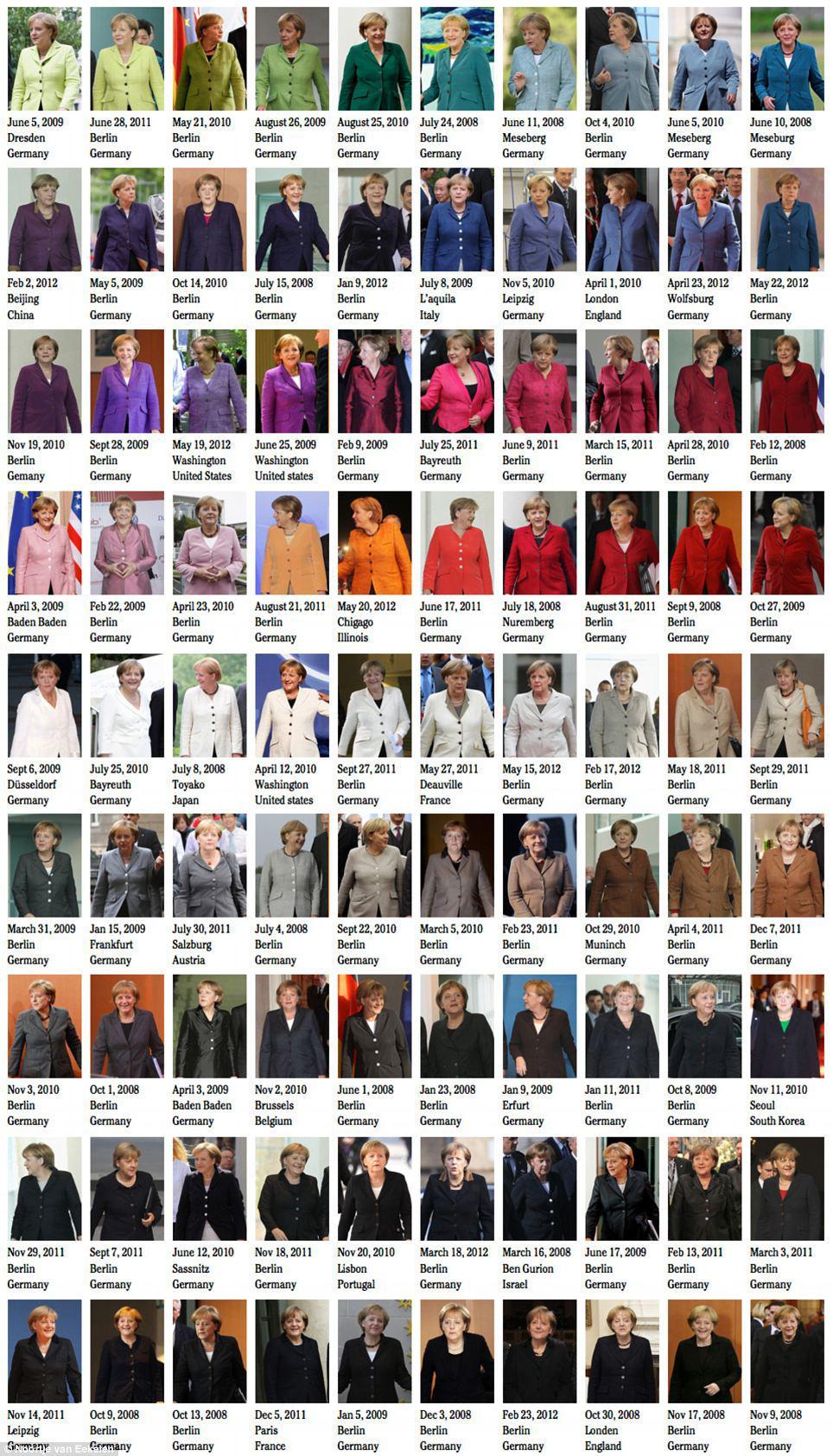 Pořád stejná, pokaždé jiná - kostýmky Angely Merkelové