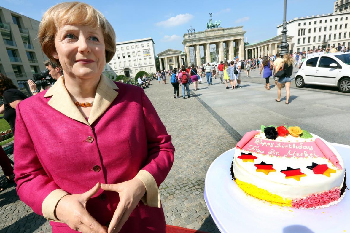 Vosková figurína Angely Merkelové