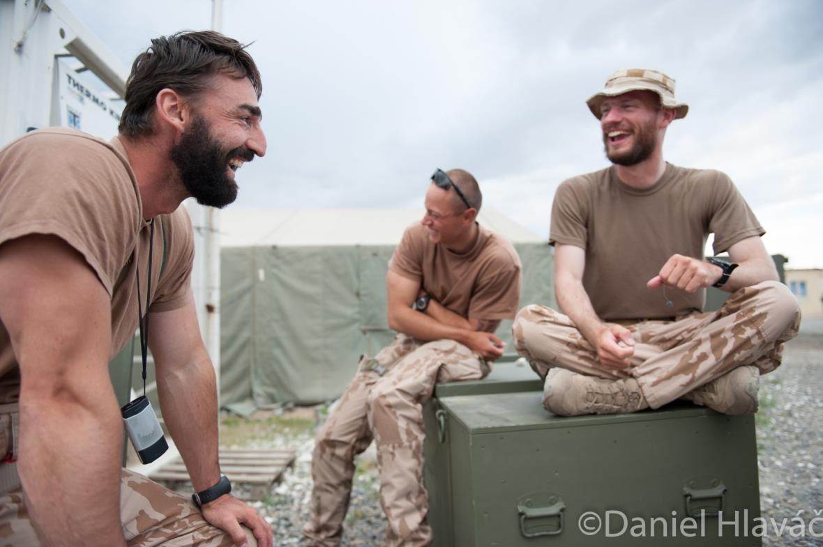 Jaroslav Lieskovan (vlevo) na misi v Afghánistánu