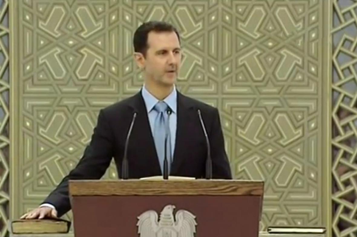 Bašár Asad skládá prezidentskou přísahu