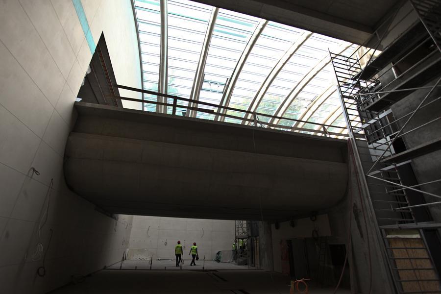 Stanice metra Motol ve výstavbě