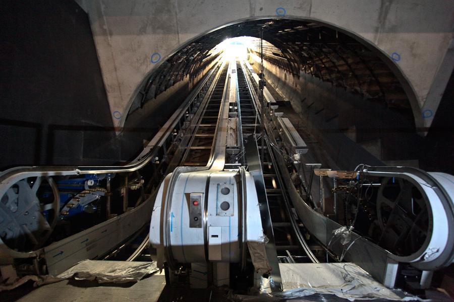 Stanice metra Petřiny ve výstavbě