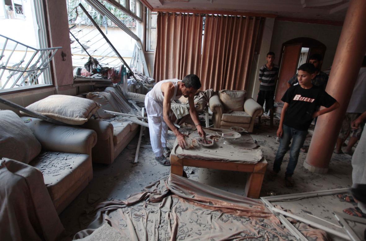 Škody v Pásmu Gazy způsobené izraelskými útoky