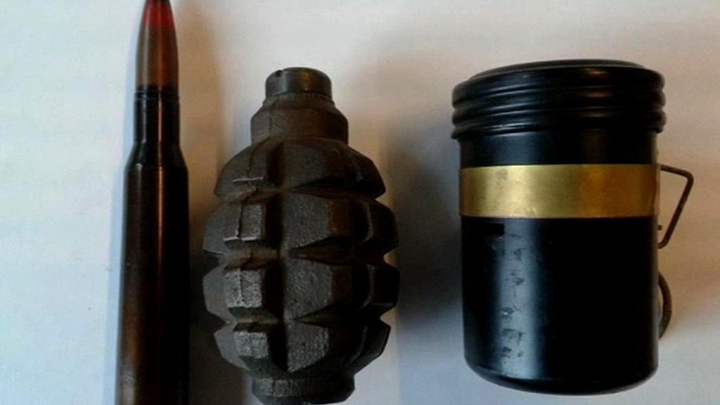 Odevzdaná munice a granáty