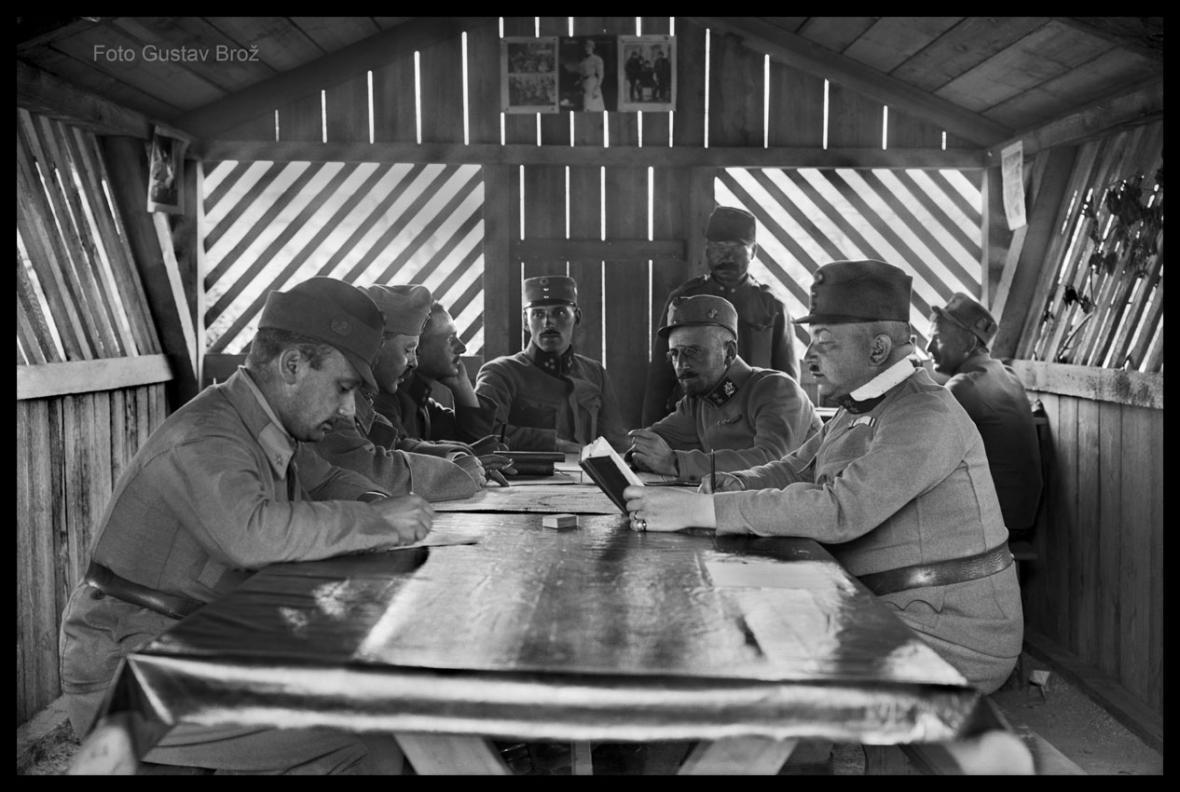 Fotografie Gustava Brože z první světové války