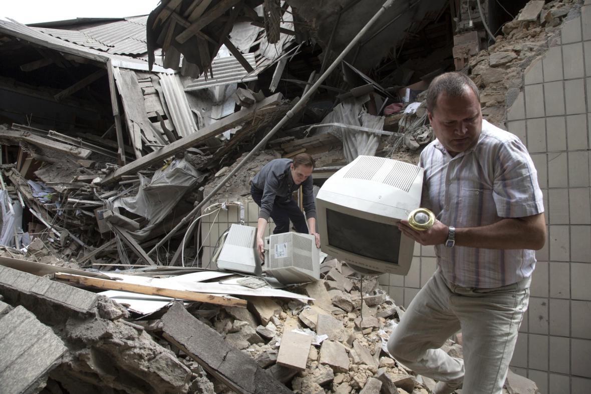 Důsledky bombardování Snižného