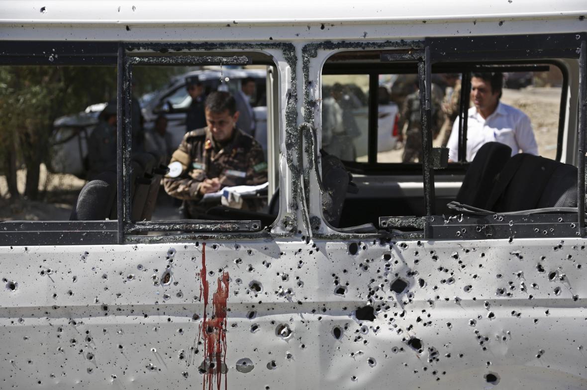 Výbuch na afghánském tržišti
