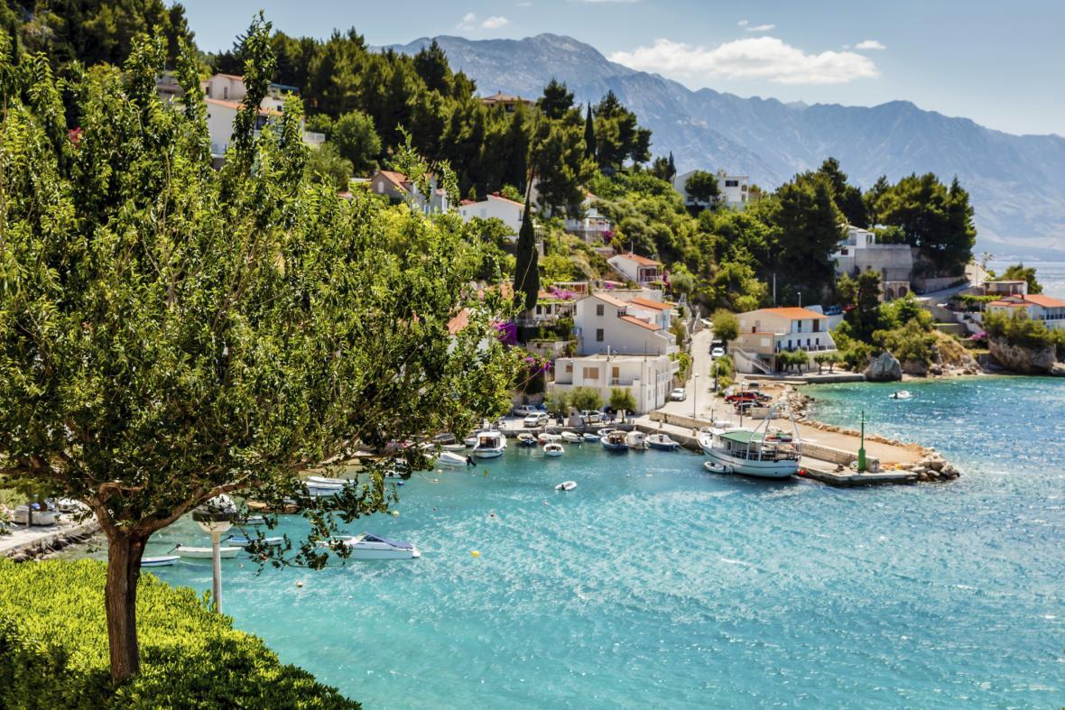 Pobřeží u Splitu