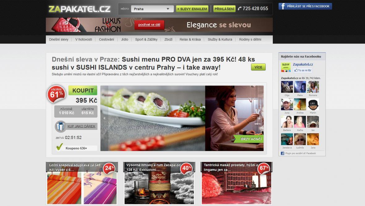 Server Zapakatel.cz - srpen 2012