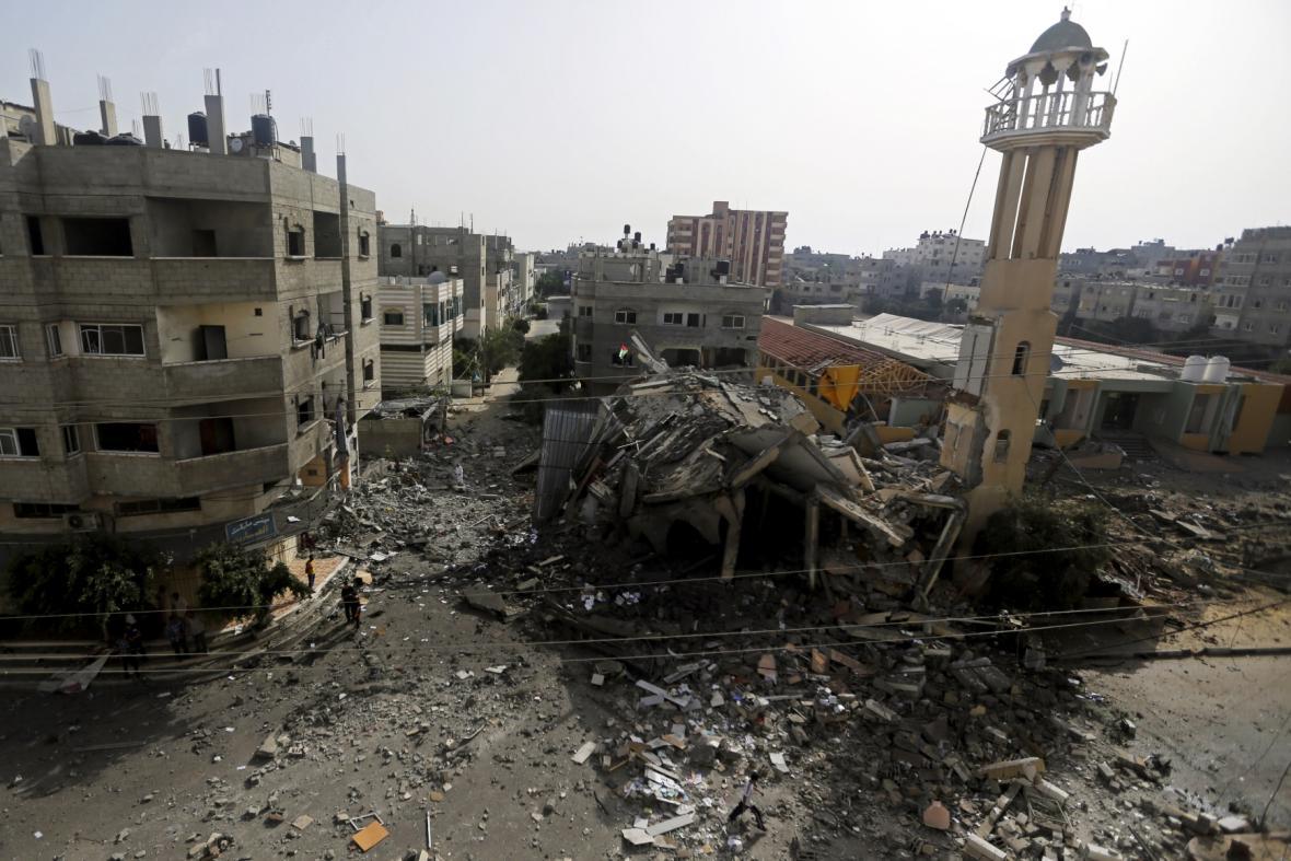 Palestinské území zasažené izraelskými nálety