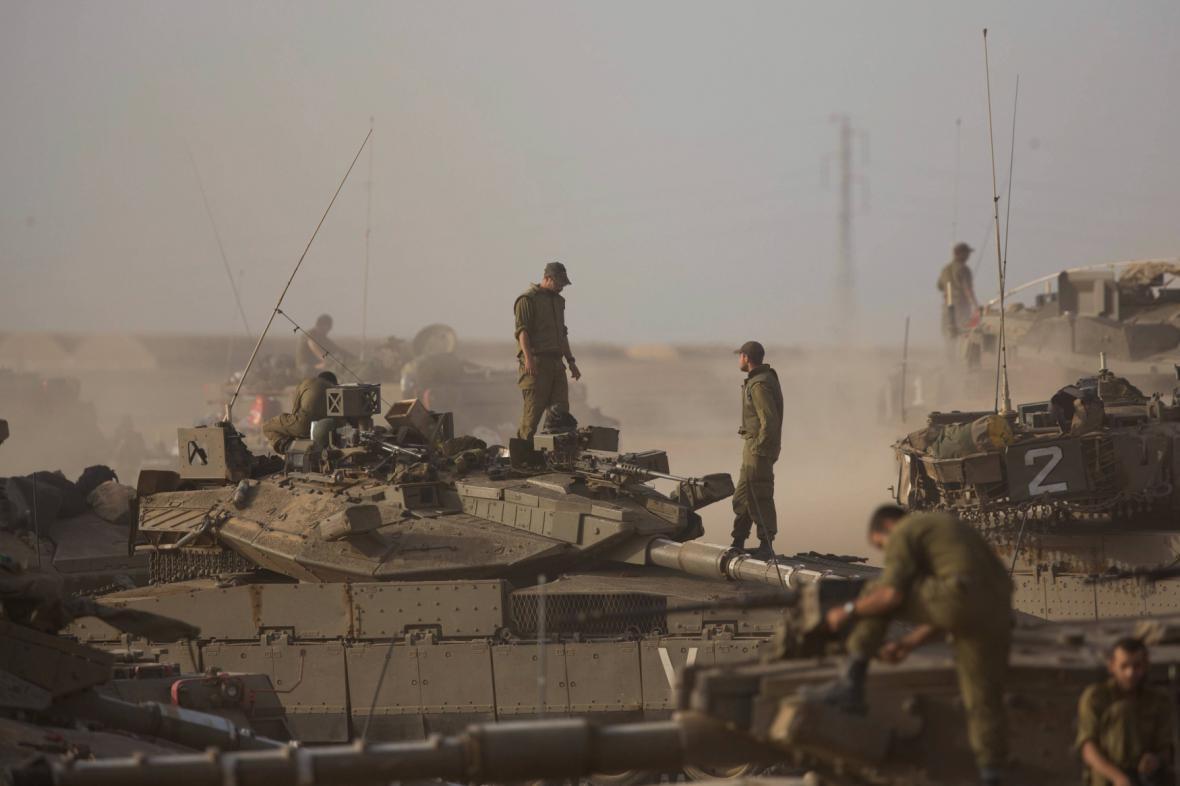 Izraelská armáda poblíž Pásma Gazy