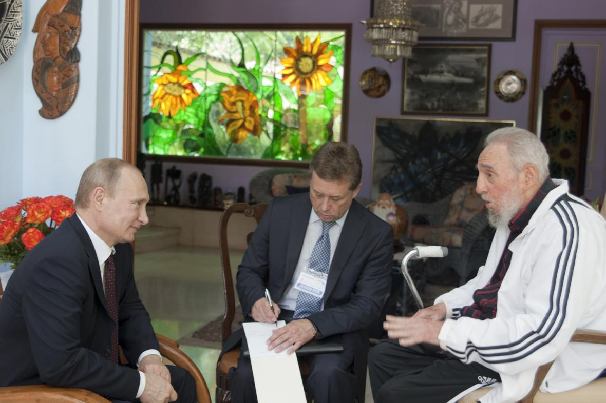 Putin na Kubě navštívil Fidela Castra