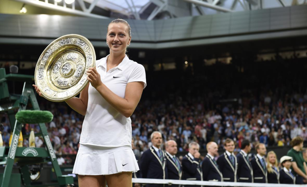 Vítězka Wimbledonu Petra Kvitová