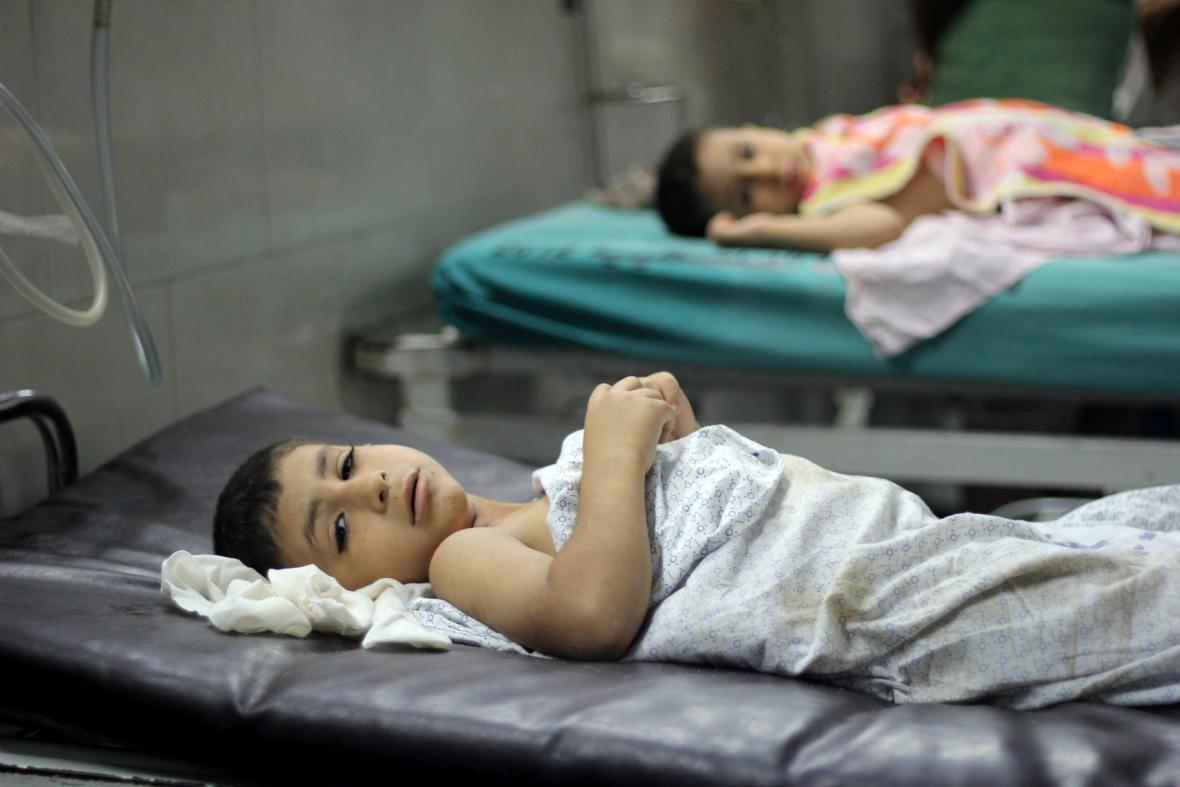 Zranění Palestinci