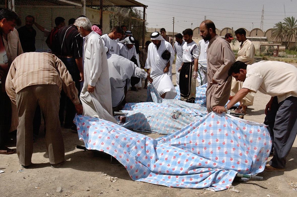 Oběti násilí v Iráku